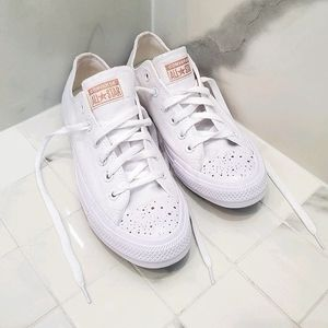 White/Rose Gold Converse